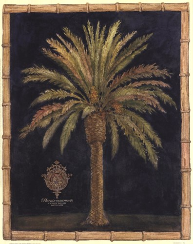 Caribbean Palm I With Bamboo Border art print by Betty Whiteaker for $18.75 CAD