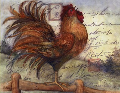 Le Rooster I art print by Susan Winget for $18.75 CAD