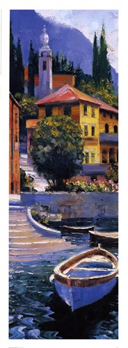 Lake Como Crossing Panel I art print by Howard Behrens for $35.00 CAD