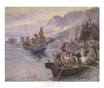 Lewis and Clark On The Lower Columbia art print by Charles M. Russell for $52.50 CAD