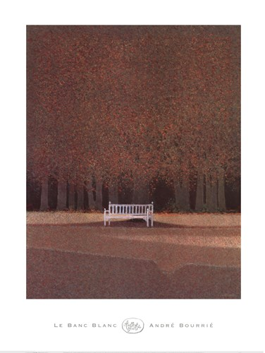 Le Banc Blanc art print by Andre Bourrie for $62.50 CAD