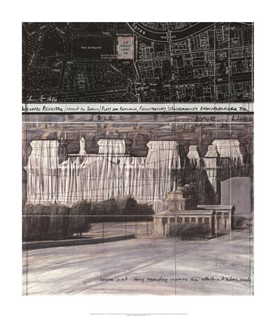Wrapped Reichstag Project for Berlin art print by Christo (Javacheff) for $55.00 CAD