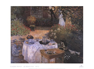 Luncheon in the Garden art print by Claude Monet for $35.00 CAD