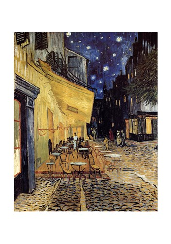The Cafe Terrace on the Place du Forum, Arles, at Night, c.1888 art print by Vincent Van Gogh for $55.00 CAD
