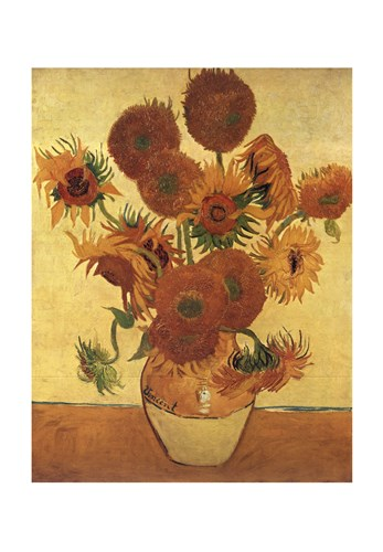 Vase with Fifteen Sunflowers, c.1888 art print by Vincent Van Gogh for $55.00 CAD