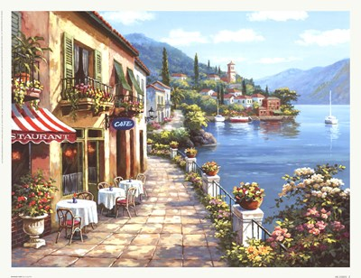 Overlook Cafe I art print by Sung Kim for $35.00 CAD