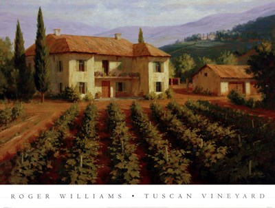 Tuscan Vineyard art print by Roger Williams for $70.00 CAD