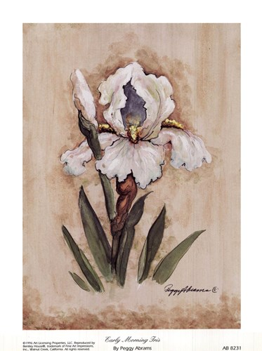 Early Morning Iris art print by Peggy Abrams for $10.00 CAD