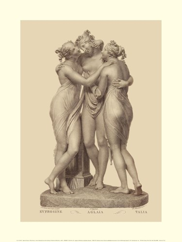 Three Graces, (The Vatican Collection) art print by Antonio Canova for $18.75 CAD