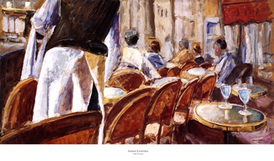 Cafe Terrace art print by Adolf Llovera for $50.00 CAD