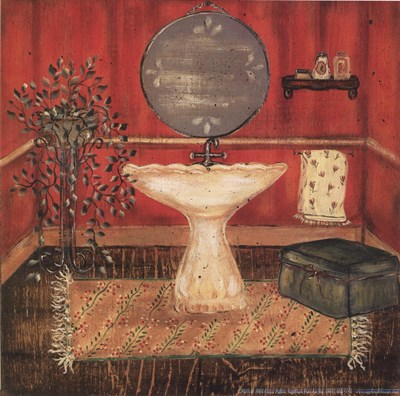 Bath in Red I art print by Grace Pullen for $10.00 CAD