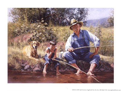 Fishin' with Grandpa art print by Jack Sorenson for $8.75 CAD