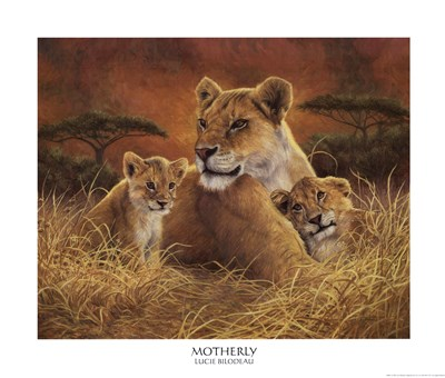 Motherly art print by Lucie Bilodeau for $26.25 CAD