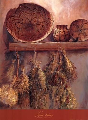 Apache Basketry art print by Marty LeMessurier for $26.25 CAD