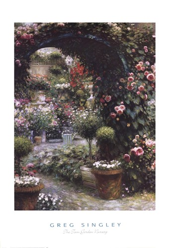 The Town Garden Nursery art print by Greg Singley for $40.00 CAD