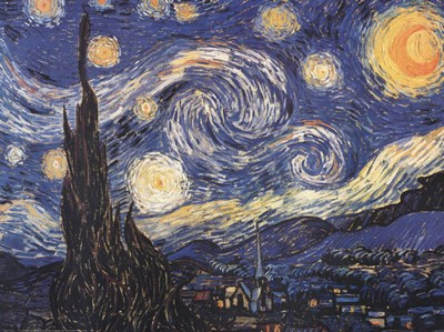 Starry Night art print by Vincent Van Gogh for $17.50 CAD