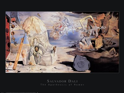 The Apotheosis Of Homer art print by Salvador Dali for $40.00 CAD