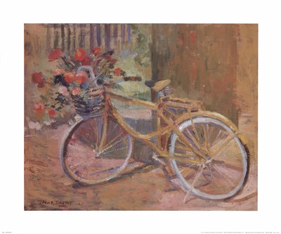La Bicyclette art print by Dawna Barton for $40.00 CAD