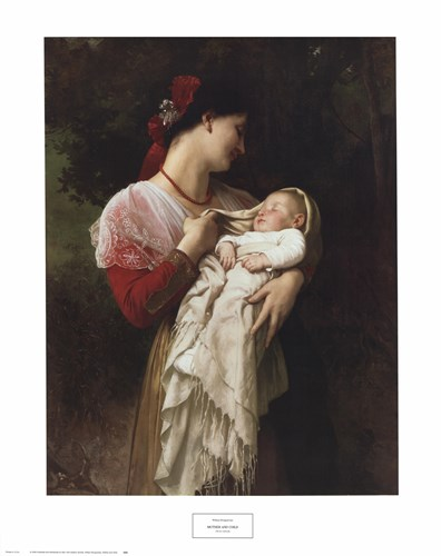 Mother and Child art print by William Adolphe Bouguereau for $40.00 CAD