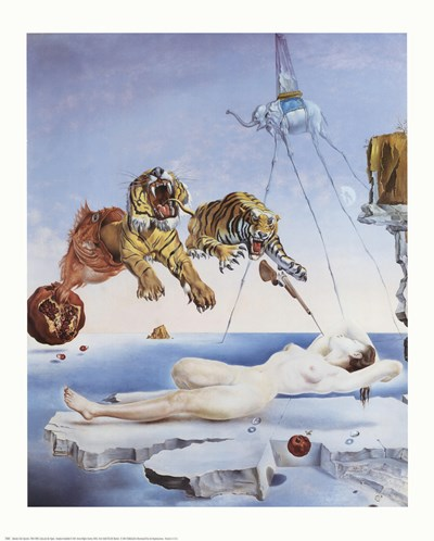 Dream Caused by the Flight of a Bee Around a Pomegranate, A Second Before Awakening, c.1944 art print by Salvador Dali for $17.50 CAD