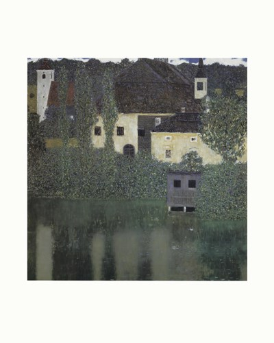 Unterach Manor and Lock Chamber on the Attersee Lake, c.1908 art print by Gustav Klimt for $17.50 CAD