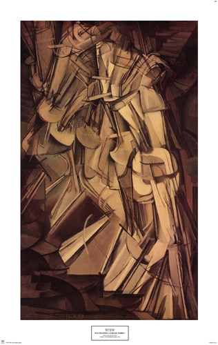 Nude Descending a Staircase, No. 2, 1912 art print by Marcel Duchamp for $40.00 CAD