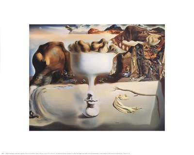 Apparition of Face and Fruit Dish on a Beach, c.1938 art print by Salvador Dali for $12.50 CAD