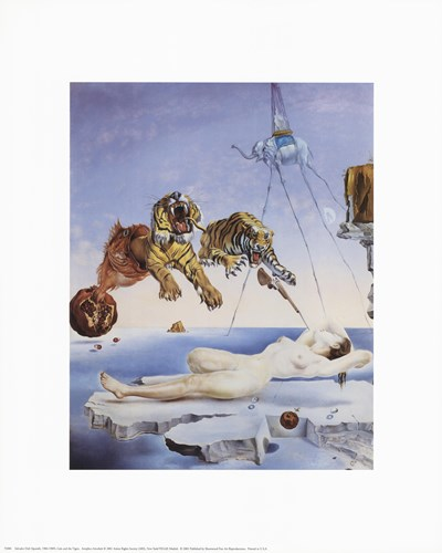Dream Caused by the Flight of a Bee Around a Pomegranate, A Second Before Awakening, c.1944 art print by Salvador Dali for $10.00 CAD