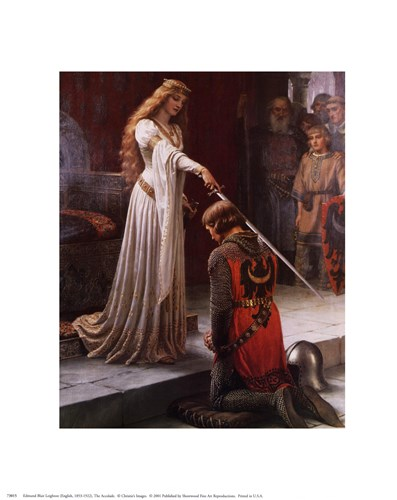 The Accolade art print by Edmund Blair Leighton for $8.75 CAD