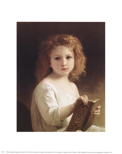 Story Book art print by William Adolphe Bouguereau for $8.75 CAD