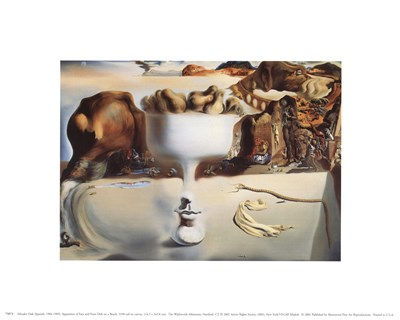 Apparition of Face and Fruit Dish on a Beach, c.1938 art print by Salvador Dali for $8.75 CAD