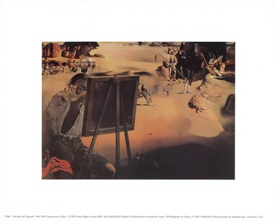 Impressions of Africa, c.1938 art print by Salvador Dali for $8.75 CAD