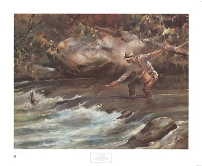 Trout Stream art print by James M. Sessions for $35.00 CAD