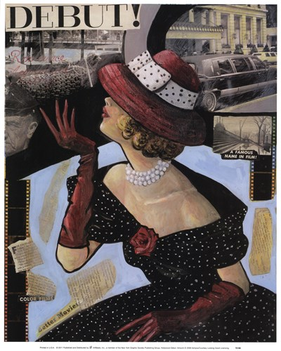 Hollywood Debut art print by Adriana for $25.00 CAD