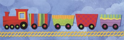 Rainbow Train art print by Jane Davies for $31.25 CAD