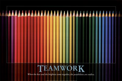 Teamwork art print by Unknown for $43.75 CAD