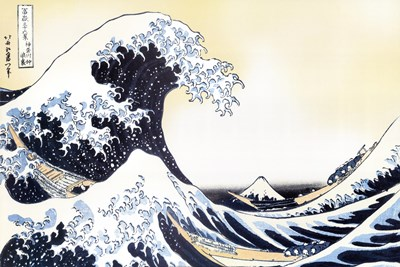 The Great Wave art print by Katsushika Hokusai for $43.75 CAD