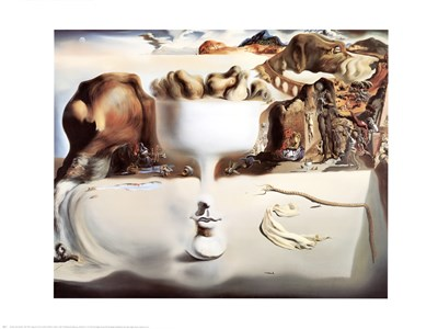 Face And Fruit On A Beach art print by Salvador Dali for $40.00 CAD