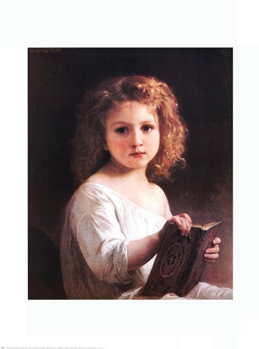 The Story Book art print by William Adolphe Bouguereau for $17.50 CAD