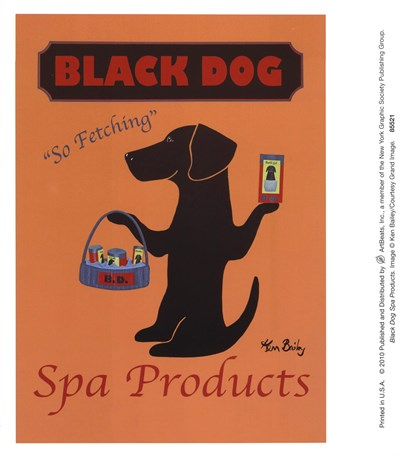 Black Dog Spa Products art print by Ken Bailey for $8.75 CAD