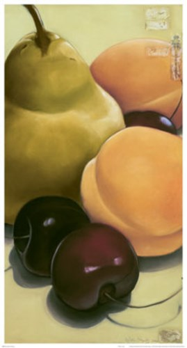 Pear, Apricots & Cherries art print by Sylvia Gonzalez for $40.00 CAD