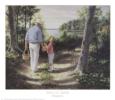 Picking Berries art print by Mary G. Smith for $31.25 CAD