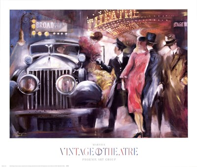 Vintage Theatre I art print by Marysia for $50.00 CAD