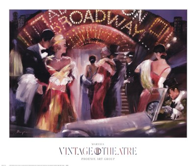 Vintage Theatre II art print by Marysia for $50.00 CAD