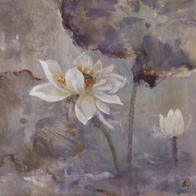 Water Lily I art print by Mei for $40.00 CAD