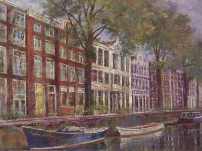 Amsterdamn Row Houses art print by Michael Longo for $52.50 CAD