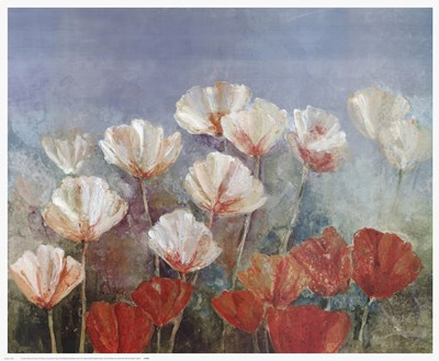 Blushing Poppies art print by Angellini for $52.50 CAD
