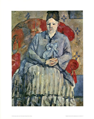 Madame Cezanne (red chair) art print by Paul Cezanne for $22.50 CAD