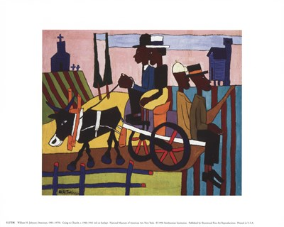 Going To Church art print by William H. Johnson for $8.75 CAD