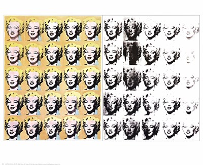 Marilyn x 50 art print by Andy Warhol for $25.00 CAD